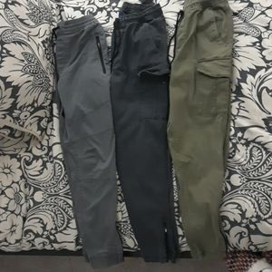 3 pairs Mens size 29 tapper jogger pants